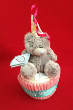 "ME TO YOU BEAR/TATTY 3"" HAPPY BIRTHDAY BEAR ON CUPCAKE"