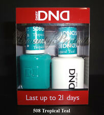 DND Daisy Soak Off Gel Polish Tropical Teal 508 full size 15ml LED/UV gel duo