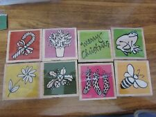 Set of 8 NEW/unused Wood Mounted Rubber Stamps VAP SCRAP