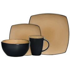 Gibson Soho Lounge 16-Piece Square Reactive Glaze Dinnerware Set  (61222.16RM)