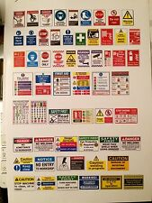 1/18 diorama garage signs posters Warning And Security signs 0018