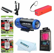 iON 1011L Air Pro Lite Wi-Fi Action Camera 2pcs 16GB + Selfie Stick + Microfiber