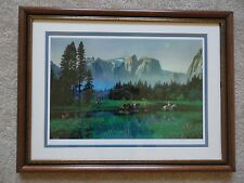 """FRAMED """"Yosemite Cowboys"""" Signed Numbered Ltd Ed Lithograph by Alexander Chen"""