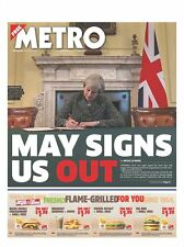 Metro Newspaper - 29 March 2017, UK triggers Brexit Process