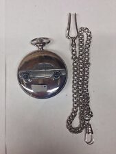 Ford Escort Mk1 2 Door Saloon ref78 emblem on polished silver case pocket watch