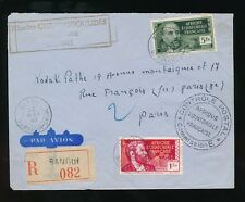 FRENCH OUBANGUI CHARI 1940 WW2 AEF CENSOR REGISTERED AIRMAIL PHOTOGRAPHER CACHET