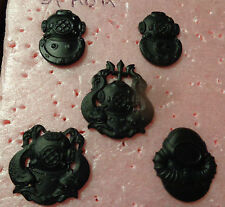 US ARMY,DIVERS BADGE SET, SUBDUED BLACK, FULL SIZE, SET OF 5,