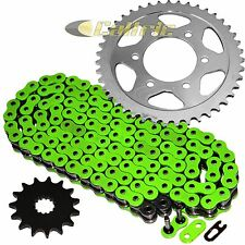 Green O-Ring Drive Chain & Sprockets Kit Fits KAWASAKI ZX-7R Ninja ZX750P 96-03