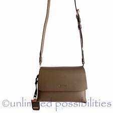 DKNY R1612101 Heavy Nappa Small New Leather Crossbody Shoulder Bag  Khaki Tags