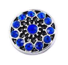 3D Rhinestone Drill Snaps Chunk Charm Button Fit  Leather Bracelets DIY #2