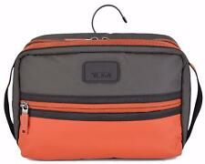 New Tumi Men's 55991 Willow Orange Grey Nylon Hanging Travel Dopp Toiletry Bag