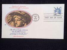 PJs FDCs US 1978 FLEETWOOD #1599 16¢ Statue of Liberty