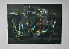 """Marcel Mouly """"Gondoles Devant San Giorgio"""" Signed Numbered Lithograph Venice"""