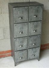 Metal Cabinet with 8 Draw Retro Style Storage Furniture Vintage Industrial