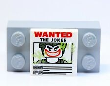 A342 Lego CUSTOM PRINTED 2x2 JOKER WANTED POSTER TILE Lego Batman Movie inspired