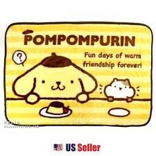 Sanrio PomPom Purin Micro Polar Fleece Light and Warm Wool Blanket Poncho: Pink