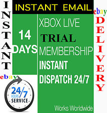 Xbox Live 14 Days 2 Weeks Trial GOLD Code - Instant Dispatch 14 day - EBAY INBOX