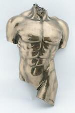 WU72884A1 Man~Male Torso~Wall Plaque~Nude Bronze Statue Sculpture Artistic Body