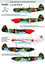 Foxbot Decals 1/48 YAKOVLEV Yak-1R Russian WWII Fighter