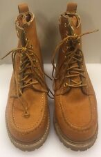 Hanover Shoes Work Boots Leather Moc Toe Industrial Men's 8.5 M Vintage Rare