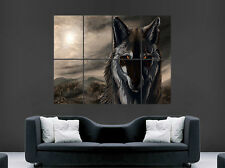 SCARY WOLF POSTER ANIMAL WILD DARK ART WALL LARGE IMAGE GIANT HUGE