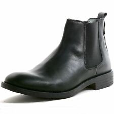 GBX Men's Torus Leather Chelsea Boots Double Gore Ankle High Pull On Dress Shoes