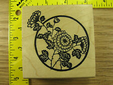Rubber Stamp Flowers In Circle by Just For Fun Stampinsisters #1808