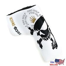 King Skull Black & White Putter Cover For Scotty Cameron Taylormade Odyssey