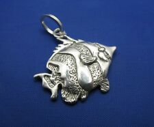 .925 Sterling Silver Nautical Clown Fish Pendant *DISCOUNTED*