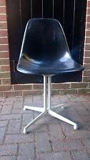 Original EAMES Herman Miller Black Chair Shell w/ La Fonda Base Modernist Design