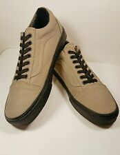 VANS Old Skool Taupe/Beige Canvas Men's Lace-Up Skate Sneakers US Size 12 XLNT