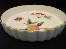 ROYAL WORCESTER OVEN TO TABLEWARE FLAN DISH ~ EVESHAM PATTERN