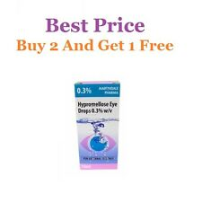 Hypromellose 0.3% Eye Drops Artificial Tears For Dry Eyes - 10ml **BEST PRICE**