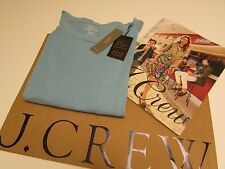 NWT Women's J.CREW  GARMENT-DYED POCKET T-SHIRT Paris sky / S / Made in the USA.