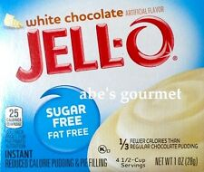 JELL-O Sugar Free Pudding & Pie Filling: White Chocolate (4 Pack) 1 oz Boxes