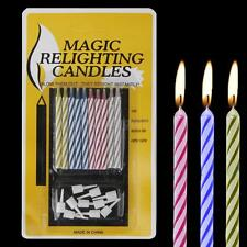 10pc Magic Relighting Candles Birthday Cake Party Joke Xmas Funny Kids Trick