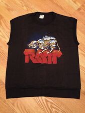 "Vtg 80s RATT �� t shirt Sleeveless Muscle ""NOS"" Tour Hairbands Rock Metal 1983 L"