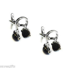 Retro Studio Music Headphone Cufflinks