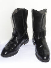 "MEN'S BLACK PULL-ON 11"" MOTORCYCLE BOOTS! VIBRAM SOLES! UNION MADE IN USA! 13 EE"