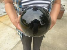 18LB AAAAA+++++ Natural Black Obsidian Sphere Large Crystal Ball Healing Stone
