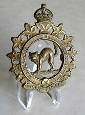 Canadian Army - The Ontario Regiment ( Tank ) Cap Badge , Oshawa - Ontario  WWII