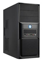 EZCool NA-705B Mid ATX PC/Computer Case With 500W PSU Black Midi Tower