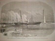 Empress Eugenie France entering Suez Canal on the Aigle at Port Said Egypt 1869