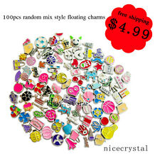 Big Sale!100pcs Mix Style Floating charms For living memory Locket Free shipping