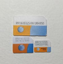 1 PCS AT&T REGULAR/MICRO / NANO SIM CARD ACTIVATION iPhone 3 4 4S 5 5S 5C 6 6+