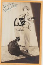 Real Photo Postcard Country Singer Radio Ranger Bashful Red New Brunswick Canada