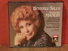 Beverly Sills : Massenet: Manon   CD 3 Disc Set  LIKE NEW  BR671