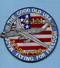 LOCKHEED C-141 STARLIFTER MAS MAC USAF AIRLIFT Squadron Aircraft Jacket Patch FF