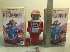 MECHANICAL SPACE ROBOT FIREMAN YOSHIYA ROBBY TIN TOY WIND UP NOMURA ALPS