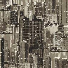 Rasch Barbara Becker City Buildings Pattern Wallpaper Modern Metallic Embossed